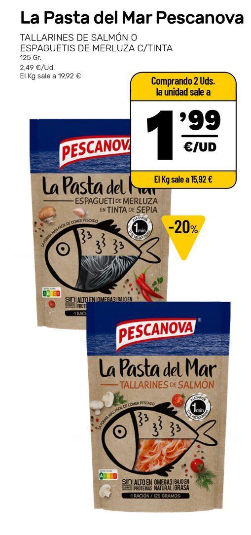 Oferta de Pasta Pescanova por 2,49€