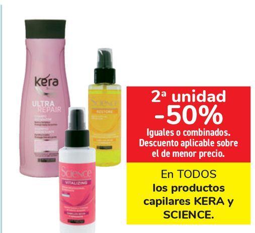 Oferta de En TODOS los productos capilares KERA y SCIENCE  por