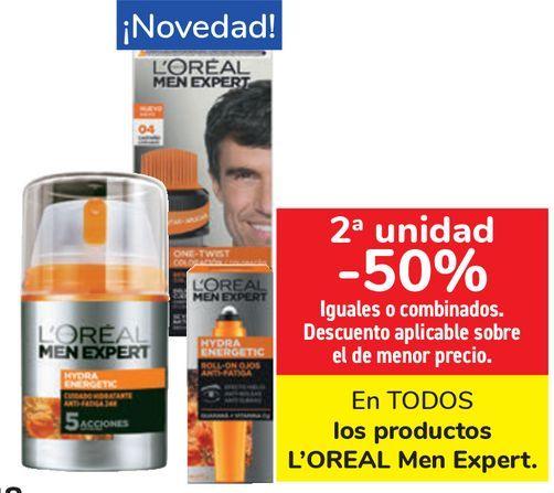 Oferta de En TODOS los productos L'OREAL Men Expert  por