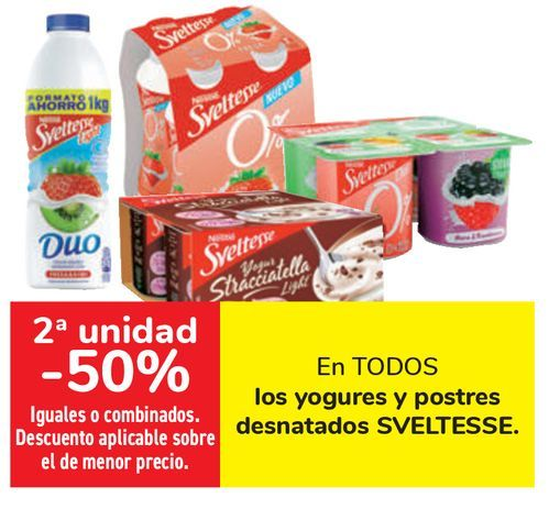 Oferta de En TODOS los yogures y postres desnatados SVELTESSE  por