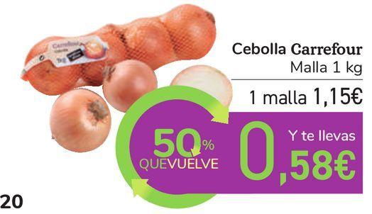 Oferta de Cebolla Carrefour por 1,15€