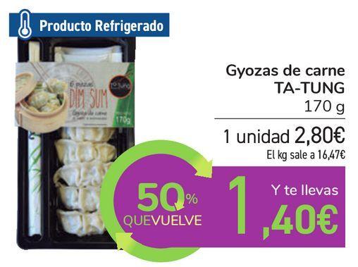 Oferta de Gyozas de carne TA-TUNG por 2,8€