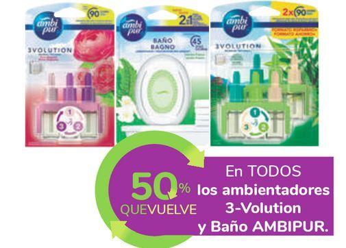 Oferta de En TODOS los ambientadores 3-Volution y Baño AMBIPUR por