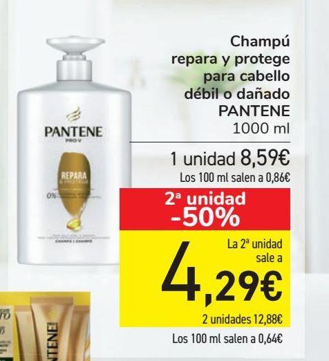 Oferta de Champú repara y protege para cabello débil o dañado PANTENE por 8,59€