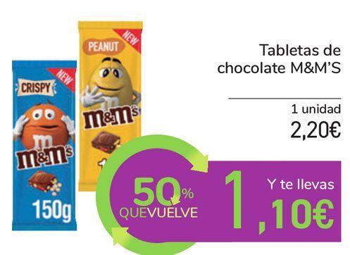 Oferta de Tabletas de chocolate M&M'S por 2,2€