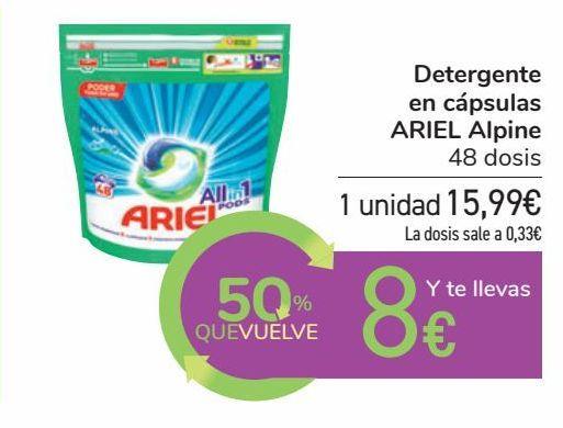 Oferta de Detergente en cápsulas ARIEL Alpine por 15,99€