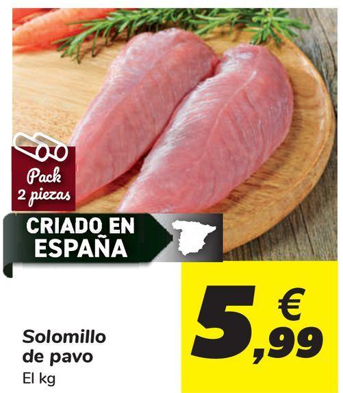 Oferta de Solomillo de pavo  por 5,99€