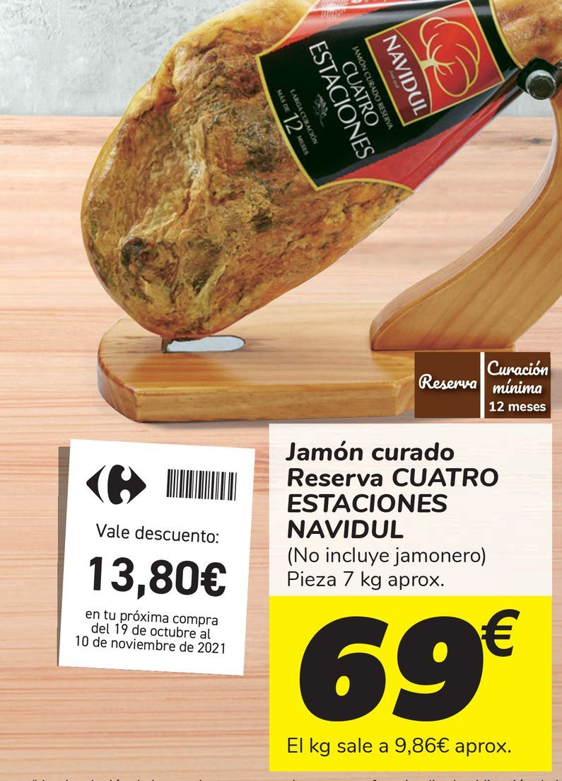 Oferta de Jamón curado Reserva CUATRO ESTACIONES NAVIDUL  por 69€
