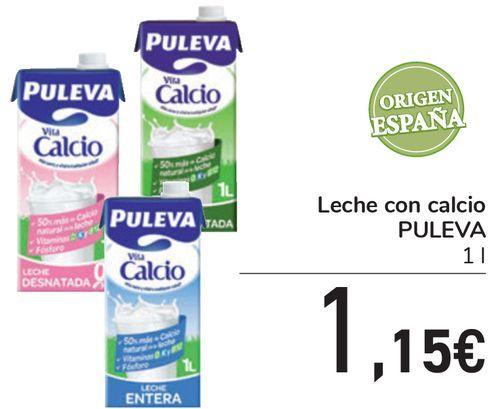 Oferta de Leche con calcio PULEVA  por 1,15€