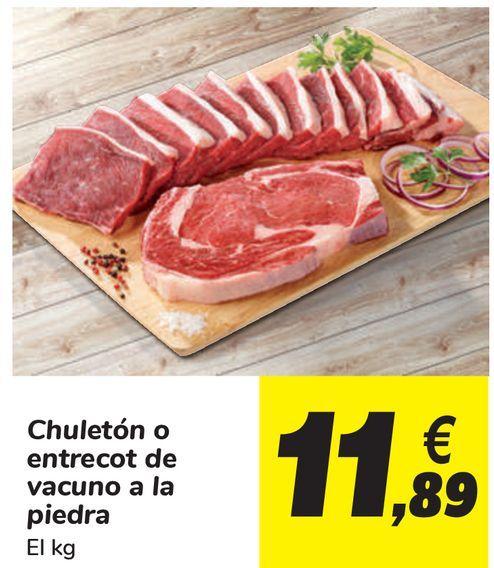 Oferta de Chuletón o entrecot de vacuno a la piedra  por 11,89€