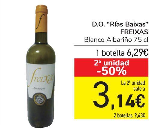 Oferta de D.O. ''Rías Baixas'' FREIXAS  por 6,29€