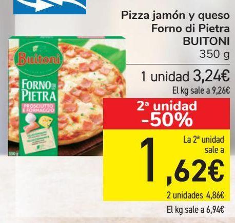 Oferta de Pizza jamón y queso Forno di Pietra BUITONI por 3,24€