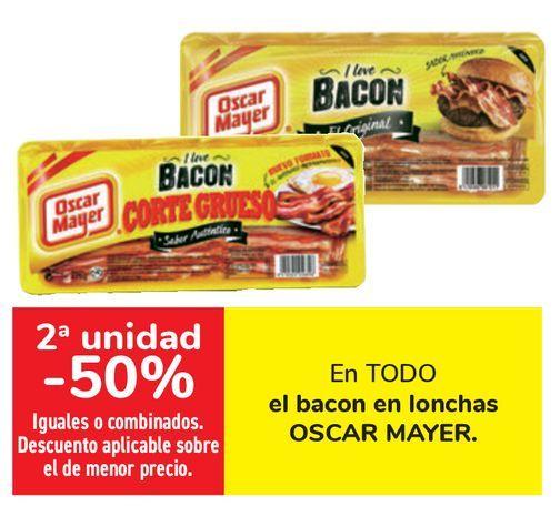 Oferta de En TODO el bacon en lonchas OSCAR MAYER  por