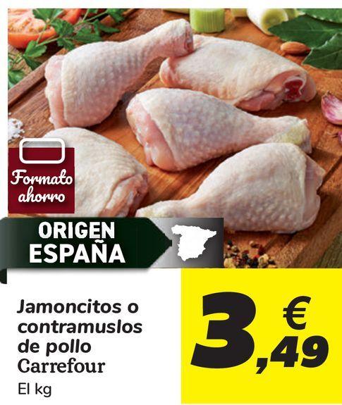 Oferta de Jamoncitos o contramuslos de pollo Carrefour  por 3,49€