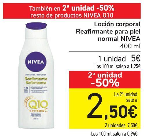 Oferta de Loción corporal Reafirmante para piel normal NIVEA  por 5€