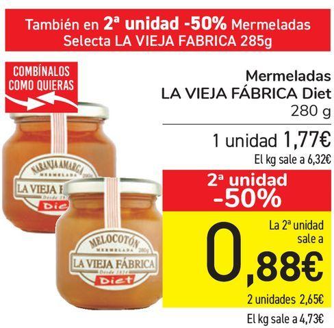 Oferta de Mermelada LA VIEJA FÁBRICA Diet  por 1,77€