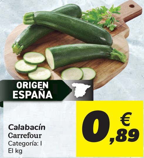 Oferta de Calabacín Carrefour  por 0,89€