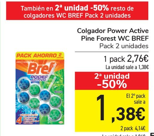 Oferta de Colgador Power Active Pine Forest WC BREF  por 2,76€