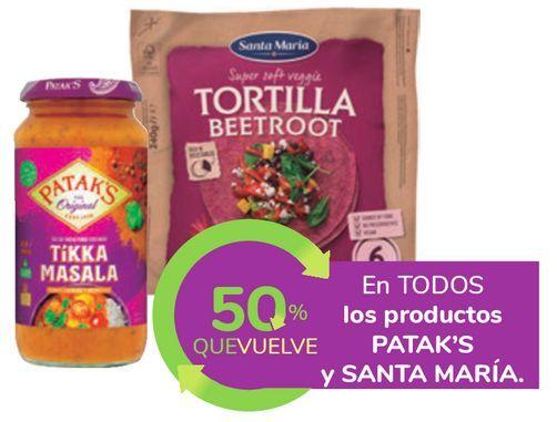 Oferta de En TODOS los productos PATAK'S y SANTA MARIA por