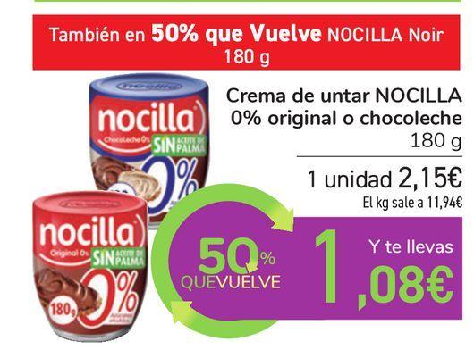 Oferta de Crema de untar NOCILLA 0% original o chocolate por 2,15€