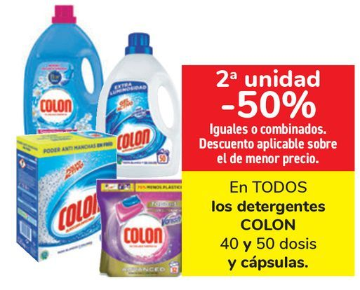 Oferta de En TODOS los detergentes COLON y cápsulas  por