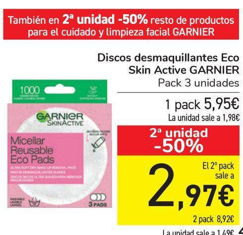 Oferta de Discos desmaquillantes Eco Skin Active Garnier  por 5,95€
