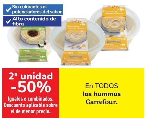 Oferta de En TODOS los hummus Carrefour  por