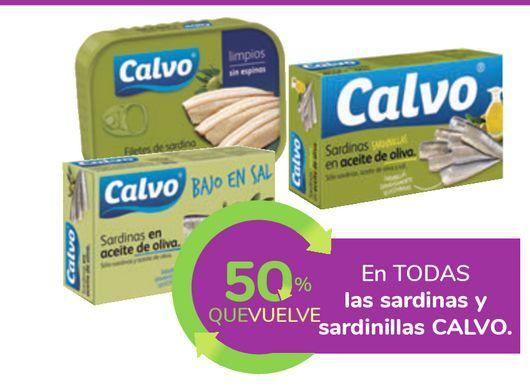 Oferta de En TODAS las sardinas y sardinillas CALVO por