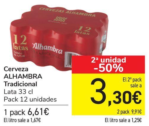 Oferta de Cerveza ALHAMBRA Tradicional  por 6,61€