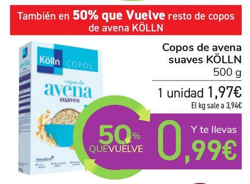 Oferta de Copos de avena suaves KÖLLN por 1,97€