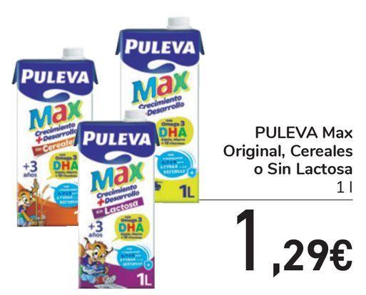 Oferta de PULEVA Max Original, Cereales o Sin Lactosa  por 1,29€