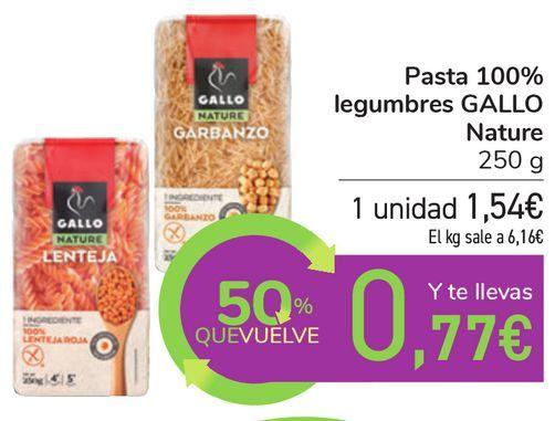 Oferta de Pasta 100% legumbres GALLO Nature por 1,54€