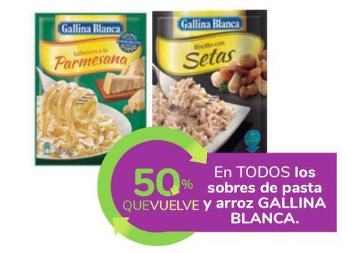 Oferta de En TODOS los sobres de pasta y arroz GALLINA BLANCA por