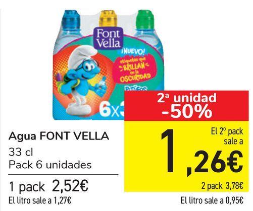 Oferta de Agua FONT VELLA  por 2,52€