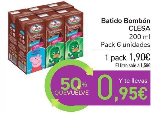 Oferta de Batido Bombón CLESA por 1,9€