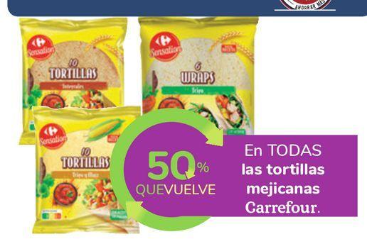 Oferta de En TODAS las tortillas mejicanas Carrefour por