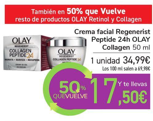 Oferta de Crema facial Regenerist Peptide 24h OLAY Collagen por 34,99€
