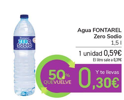 Oferta de Agua FONTAREL Zero Sodio por 0,59€