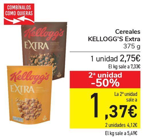 Oferta de Cereales KELLOGG'S Extra  por 2,75€