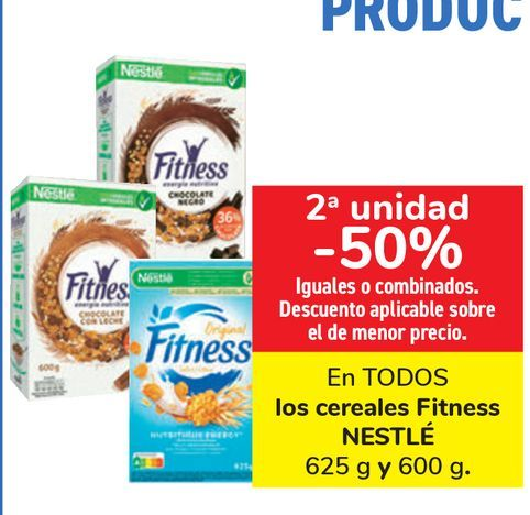 Oferta de En TODOS los cereales Fitness NESTLÉ  por