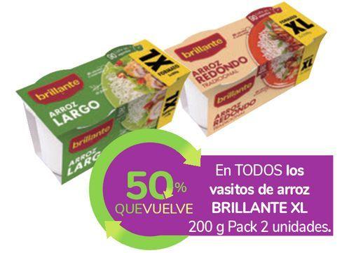 Oferta de En TODOS los vasitos de arroz BRILLANTE XL  por