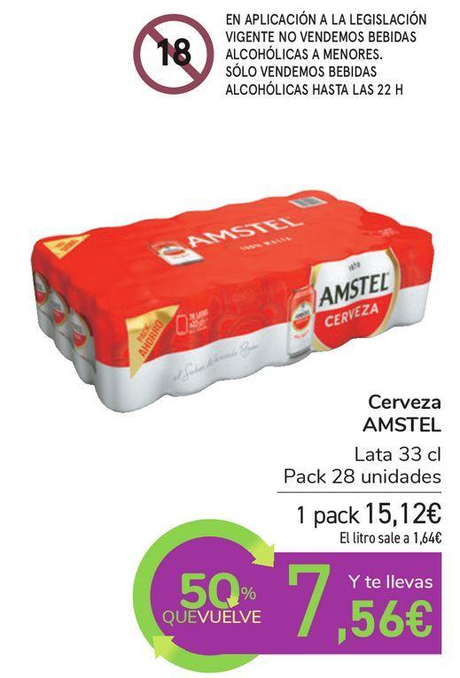 Oferta de Cerveza AMSTEL por 15,12€