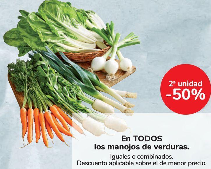 Oferta de En TODOS los manojos de verduras  por