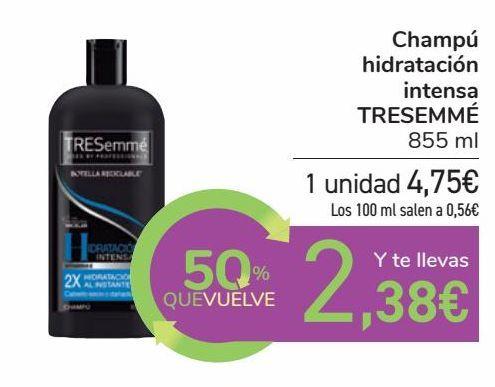 Oferta de Champú hidratación intensa TRESEMMÉ por 4,75€