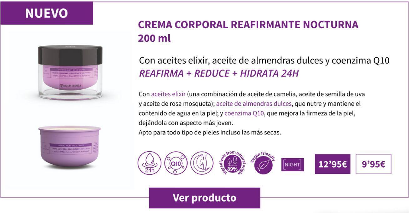 Oferta de Crema corporal reafirmante nocturna 200ml por 12,95€