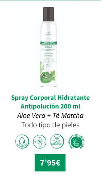 Oferta de Spray corporal hidratante antipolución 200ml por 7,95€