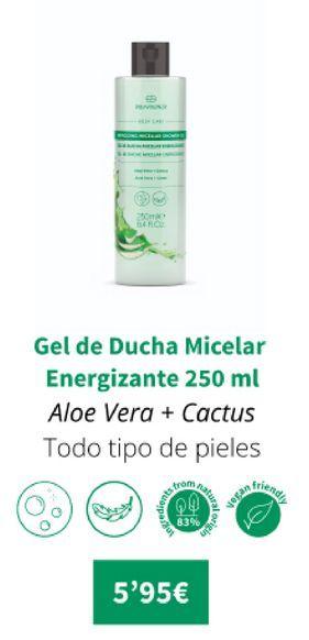 Oferta de Gel de ducha micelar energizante 250ml por 5,95€