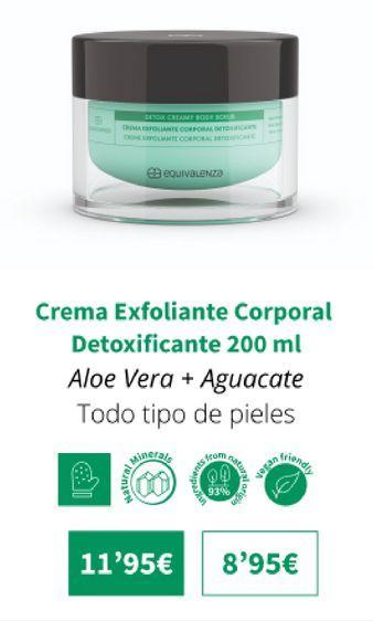 Oferta de Crema exfoliante corporal detoxificante 200 ml por 11,95€