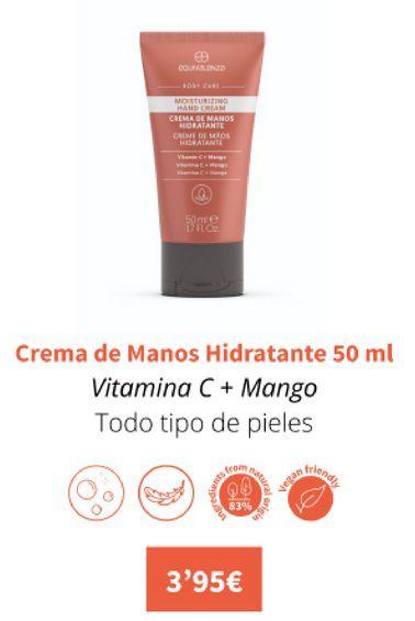 Oferta de Crema de manos hidratante 50ml por 3,95€