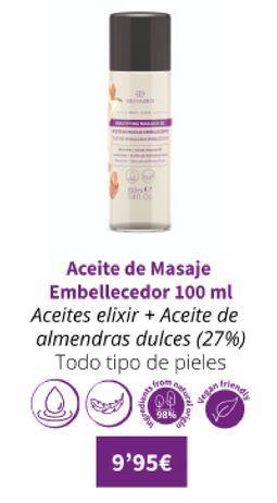 Oferta de Aceite de masaje embellecedor 100ml por 9,95€